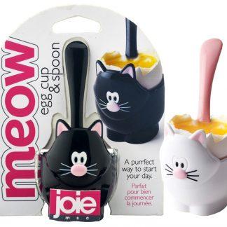 Äggkopp Meow (Svart)
