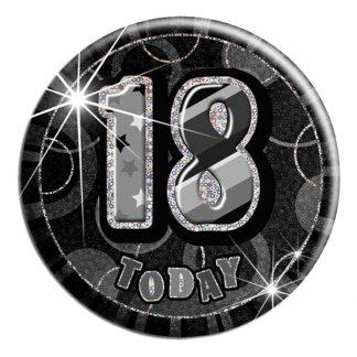 Knapp 18 Today Svart/Silver