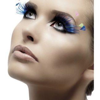 Lösögonfransar Fjädrar blå och neon