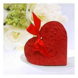 Presentaskar Hjärtan - Röda