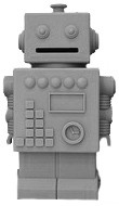 Robert the Robot, dekoration eller sparbössa - KG Design (Grå)