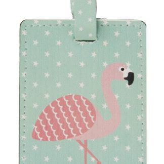 Bagagetag Flamingo