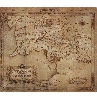Sagan Om Ringen Musmatta Rohan & Gondor Karta