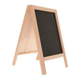 Dubbelsidig Blackboard Tavla på Ställ Trä