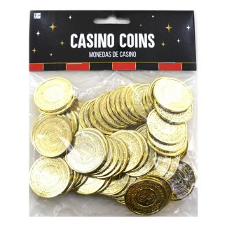 Casinomynt Guld - 72-pack