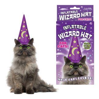 Uppblåsbar Trollkarlshatt för Katt