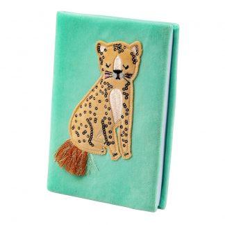 Anteckningsbok Sammet Leopard