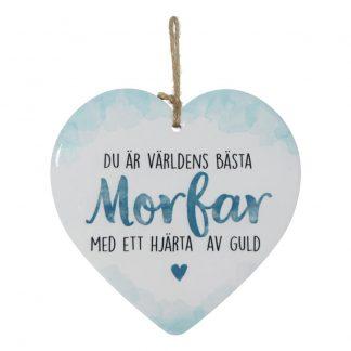 Dekorationshjärta Morfar